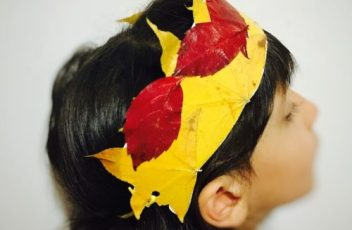 corona di foglie