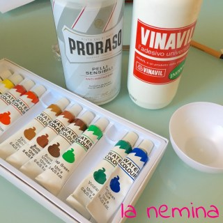 ingredienti per puffy paint