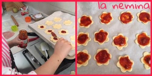pizzette con sugo ortolina kids