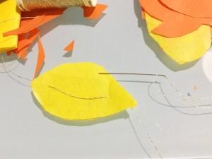 filo dorato per foglie autunnali