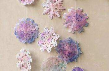 decorazione fiocchi di neve