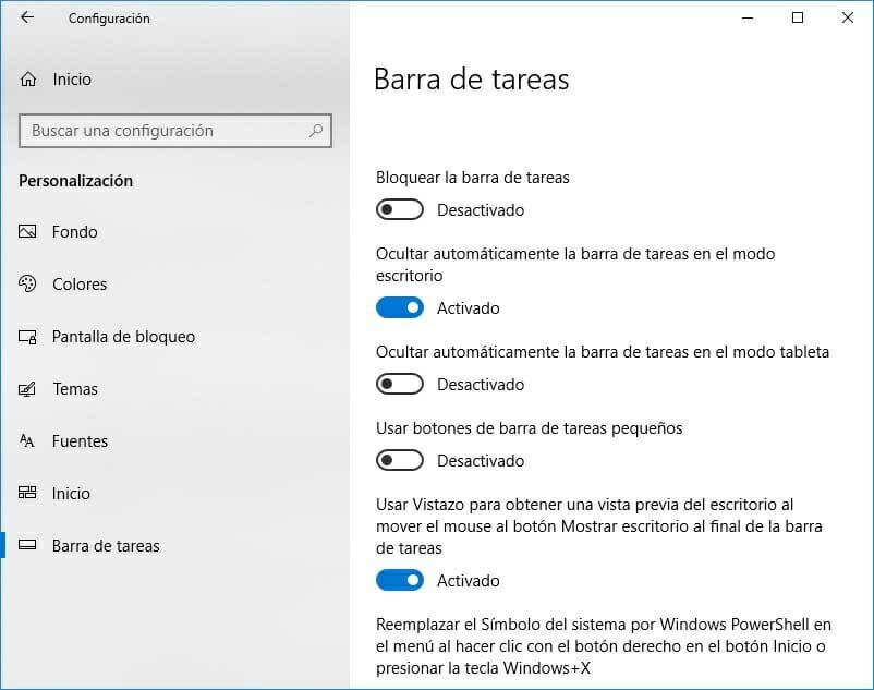 Cómo solucionar el error que hace que la barra de tareas no se oculte en Windows 10 2