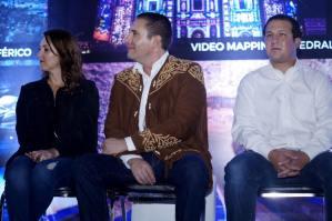 Rafa Moreno Valle Gobernador de Puebla inauguró el Pabellón Turístico de Puebla en la Feria de Tamaulipas
