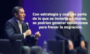 Rafa Moreno Valle Gobernador de Puebla: Con la inversión para construir muros, se podría aminorar la migración