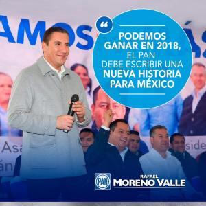 Rafa Moreno Valle Gobernador de Puebla: Con la fuerza y participación de todos para México lo mejor… está por venir.