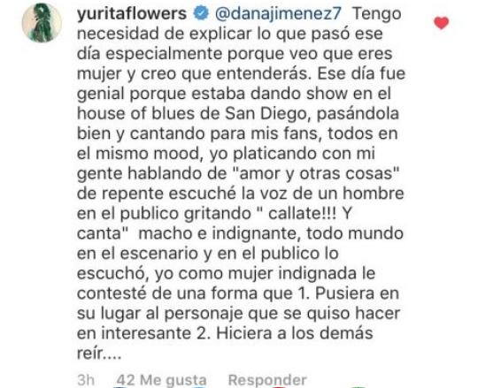 """Yuridia explica porqué llamó """"perro"""" a un fan"""