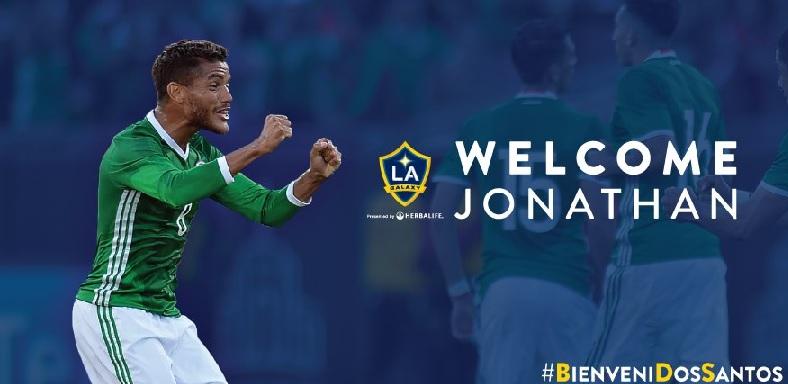 Jonathan Dos Santos se une oficialmente a Giovanni en el Galaxy