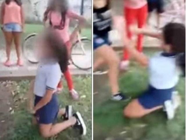 Estudiantes atacan cruelmente a su compañera de 11 años (VIDEO)