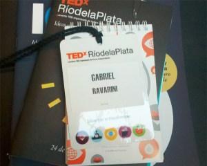 Acreditación y materiales de TEDxRíodelaPlata