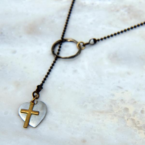 Cross & Heart Necklace