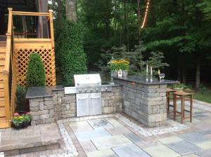 Stone Paver Outdoor Kitchen