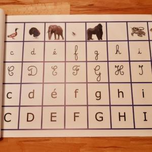 Frise alphabet Montessori