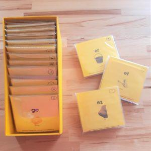 Pochettes pour emballer 4ème série d'écriture-lecture Montessori
