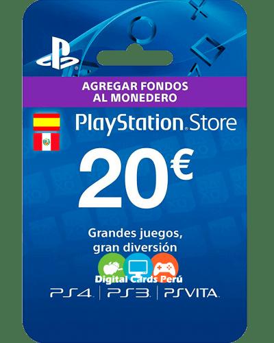Tarjeta Playstation Network 20 euros españa
