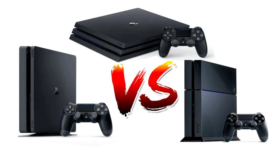 Compración entre PS4 Fat PS4 Slim y PS4 Pro