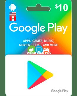 Google Play 10 dolares cuenta americana