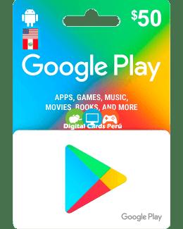 Google Play 50 dolares cuenta americana