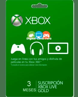 3 meses Xbox Gold Peru