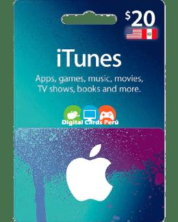 iTunes 20 dolares cuenta americana
