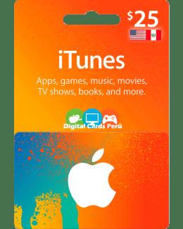 iTunes 25 dolares cuenta americana