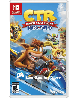 Cover Crash Team Racing para Nintendo Switch, tambien conocido como Crash Car