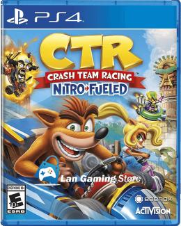 Cover Crash Team Racing para PS4, tambien conocido como Crash Car