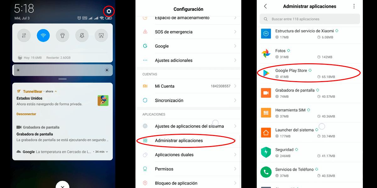 Guía para borrar el cache de Google Play