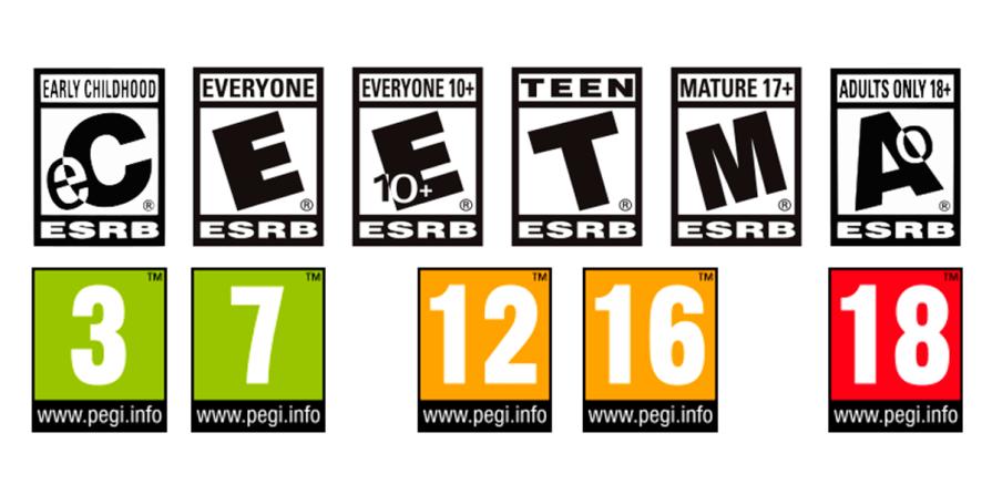 Comparativa entre clasificación ESRB y PEGI