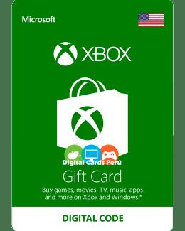 Foto Base Xbox Live Gift Card para cuenta USA