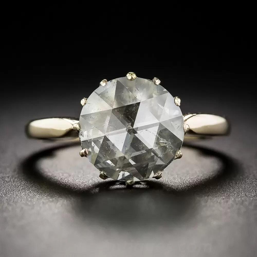 2 30 Carat Rose Cut Diamond Solitaire