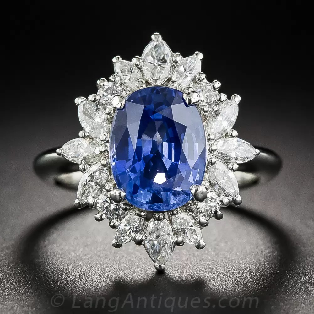 310 Carat Sapphire Platinum Diamond Ring