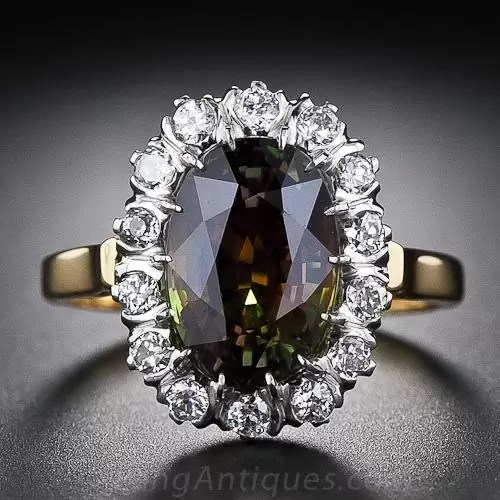 419 Carat Alexandrite And Diamond Ring