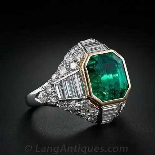 500 Carat Emerald Diamond Ring