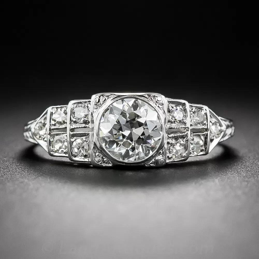 88 Carat Diamond Art Deco Engagement Ring