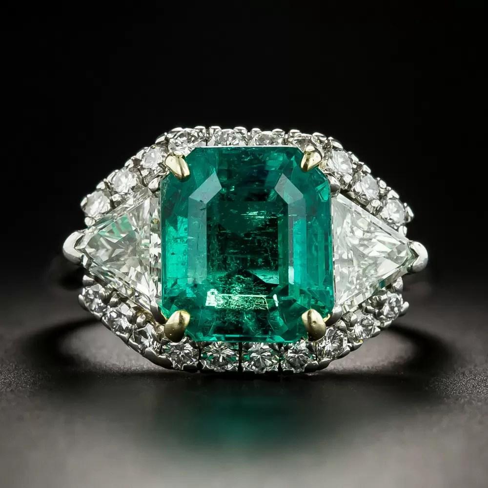 Cartier 5 22 Carat Emerald Diamond Platinum Ring