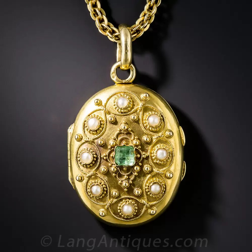 French Antique Locket Necklace