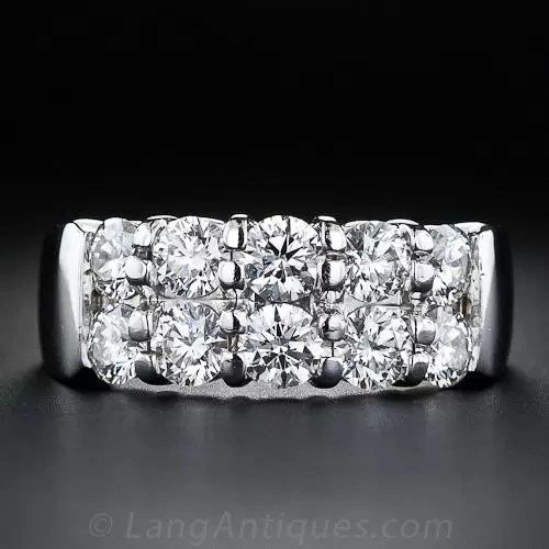 Hearts On Fire Contemporary Double Row Diamond Band Ring