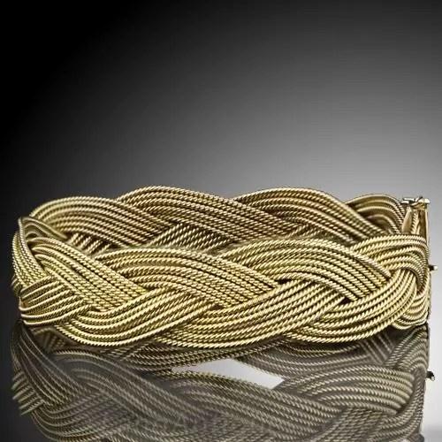 Italian Gold Braided Bracelet