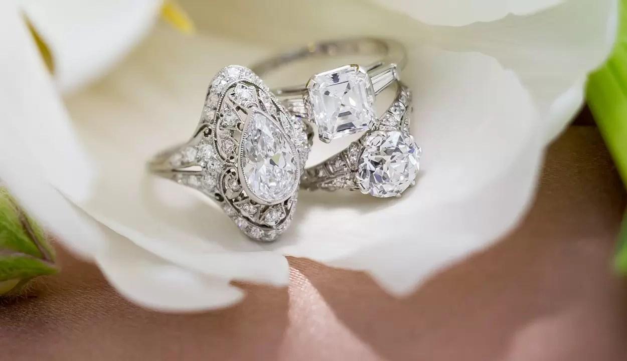 Engagement Rings Vintage Antique Amp Estate Rings Lang