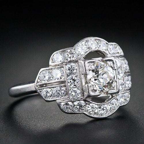 Art Deco Whitehouse Bros Diamond Engagment Ring