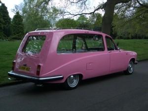 A pink hearse