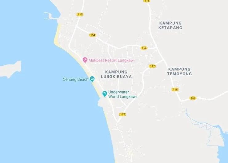Homestay Cenang Map