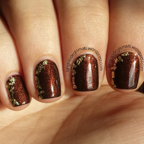 Nail Art con Revlon Parfumerie 100 - Autumn Spice