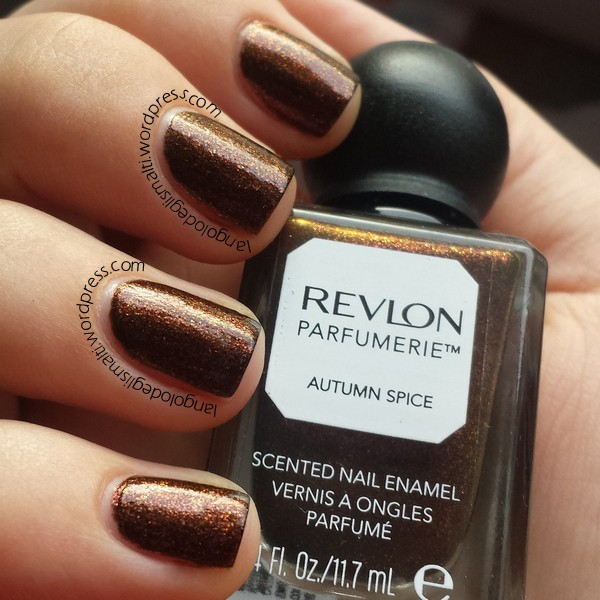 Revlon Parfumerie - Scented Nail Enamel 100 - Autumn Spice - 2 coats - no top coat - indirect natural light