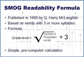Smog readability test