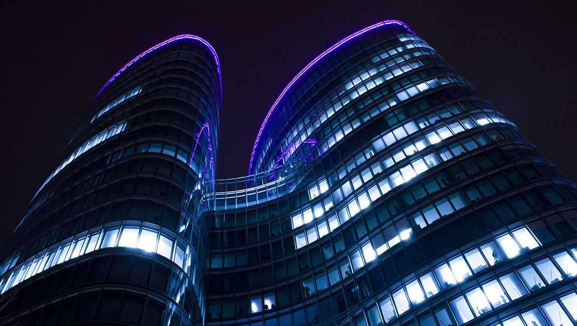 Language Connections Translation Company - Modern Building At Night