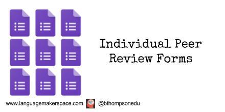 Creating Individual Peer Review Forms