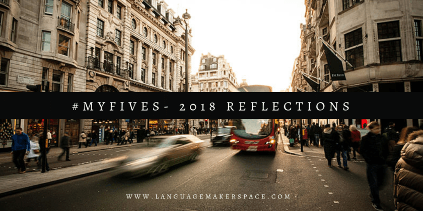 city road with a car going by with #myfives 2018 Reflections