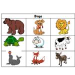 Животные - Игра бинго