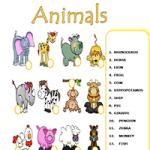 Животные - Соедини слова с картинками